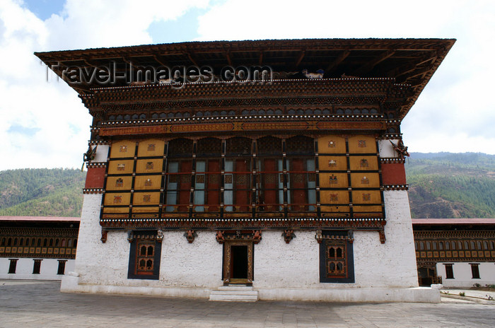 bhutan203: Bhutan - Thimphu - inside the Trashi Chhoe Dzong - photo by A.Ferrari - (c) Travel-Images.com - Stock Photography agency - Image Bank