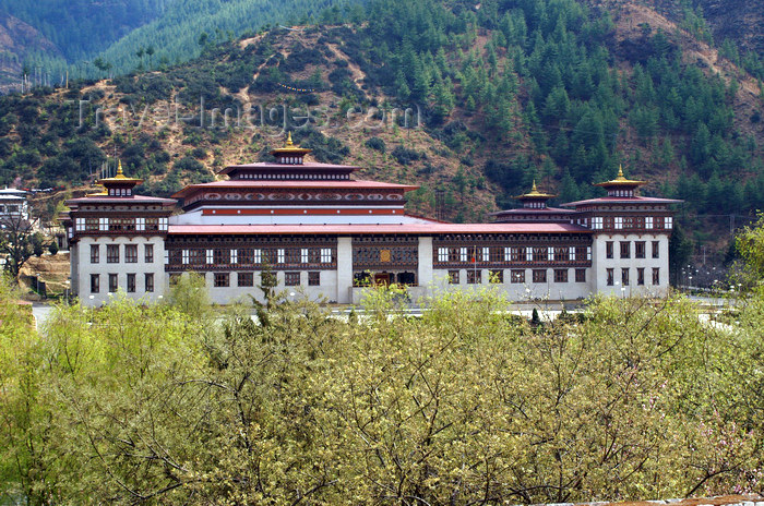 bhutan207: Bhutan - Thimphu - South Asian Association for Regional Cooperation - SAARC building, outside the Trashi Chhoe Dzong - photo by A.Ferrari - (c) Travel-Images.com - Stock Photography agency - Image Bank