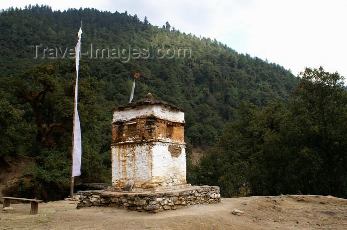 bhutan224: Bhutan - Old stupa, on the way to Cheri Goemba - photo by A.Ferrari - (c) Travel-Images.com - Stock Photography agency - Image Bank