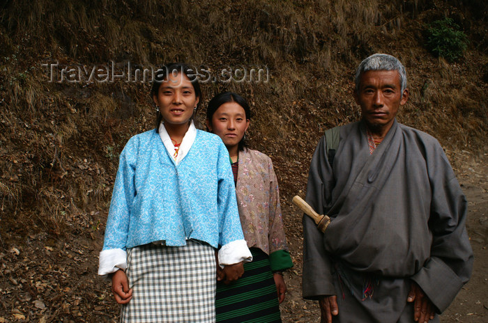 bhutan228: Bhutan - Bhutanese people in tradional clothes, on their way to Cheri Goemba - photo by A.Ferrari - (c) Travel-Images.com - Stock Photography agency - Image Bank