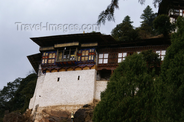 bhutan233: Bhutan - Cheri Goemba - built on the mountain side - photo by A.Ferrari - (c) Travel-Images.com - Stock Photography agency - Image Bank