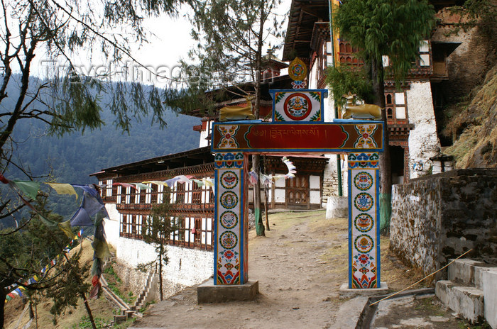 bhutan234: Bhutan - Chari Goemba - arriving - photo by A.Ferrari - (c) Travel-Images.com - Stock Photography agency - Image Bank