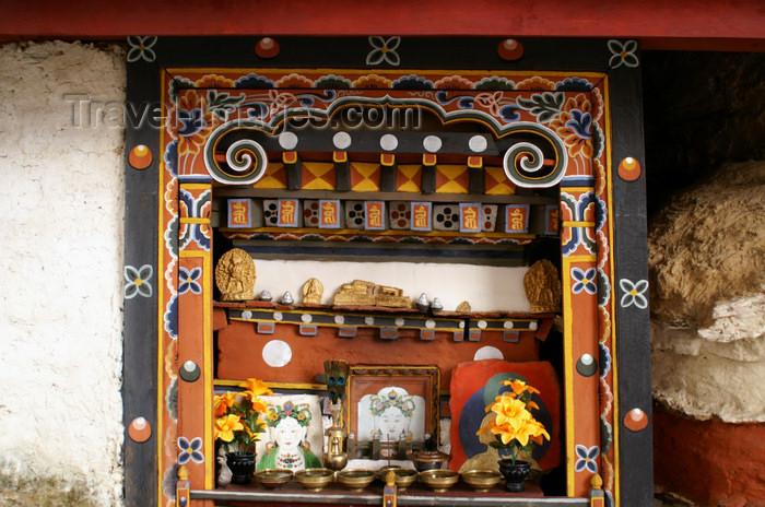 bhutan241: Bhutan - Small altar, in Chari Goemba - photo by A.Ferrari - (c) Travel-Images.com - Stock Photography agency - Image Bank