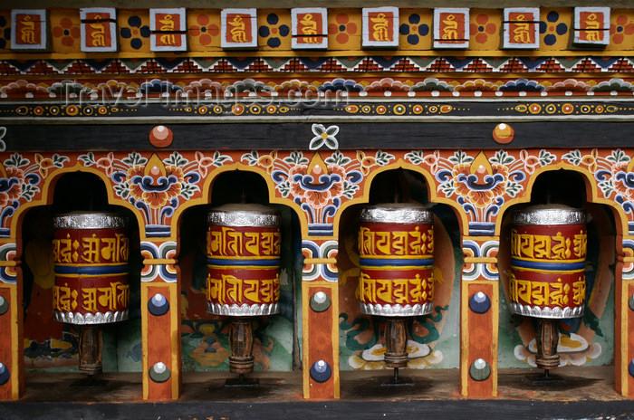 bhutan244: Bhutan - Prayer wheels, in Cheri Goemba - photo by A.Ferrari - (c) Travel-Images.com - Stock Photography agency - Image Bank