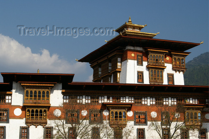 bhutan266: Bhutan - central tower of the Punakha Dzong - photo by A.Ferrari - (c) Travel-Images.com - Stock Photography agency - Image Bank