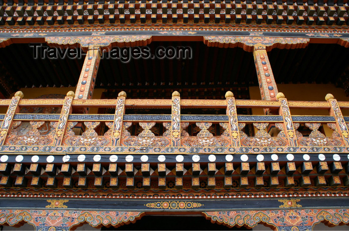 bhutan269: Bhutan - balcony - the Punakha Dzong - photo by A.Ferrari - (c) Travel-Images.com - Stock Photography agency - Image Bank