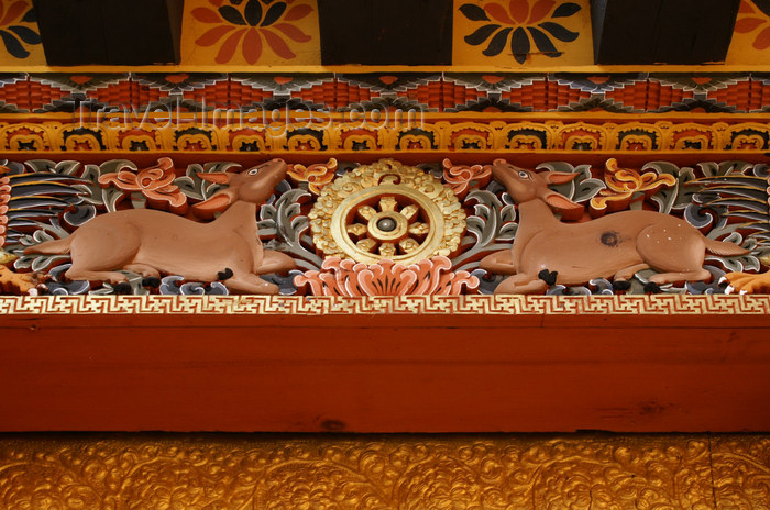 bhutan272: Bhutan - wheel of life - wood carvings, in the Punakha Dzong - photo by A.Ferrari - (c) Travel-Images.com - Stock Photography agency - Image Bank