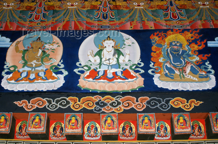 bhutan275: Bhutan - Buddhist figures painted in Punakha Dzong - photo by A.Ferrari - (c) Travel-Images.com - Stock Photography agency - Image Bank