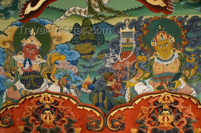 bhutan276: Bhutan - painting - two guardians of the four directions, in the Punakha Dzong - photo by A.Ferrari - (c) Travel-Images.com - Stock Photography agency - Image Bank