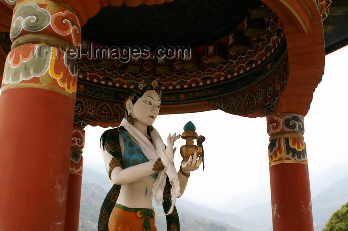 bhutan289: Bhutan - Buddhist godess, in Khansum Yuelley Namgyal Chorten - photo by A.Ferrari - (c) Travel-Images.com - Stock Photography agency - Image Bank