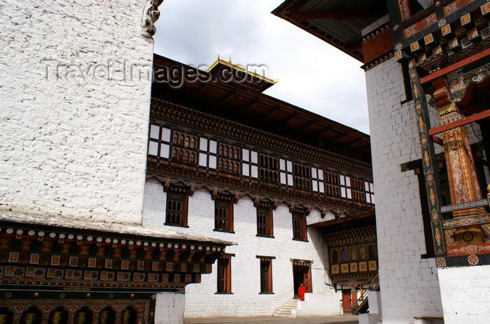 bhutan29: Bhutan - Thimphu - inside Trashi Chhoe Dzong - Bhutanese architecture - photo by A.Ferrari - (c) Travel-Images.com - Stock Photography agency - Image Bank
