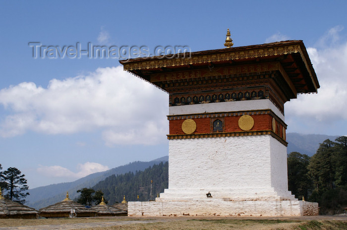 bhutan292: Bhutan - one of the 108 chortens of Dochu La pass - photo by A.Ferrari - (c) Travel-Images.com - Stock Photography agency - Image Bank