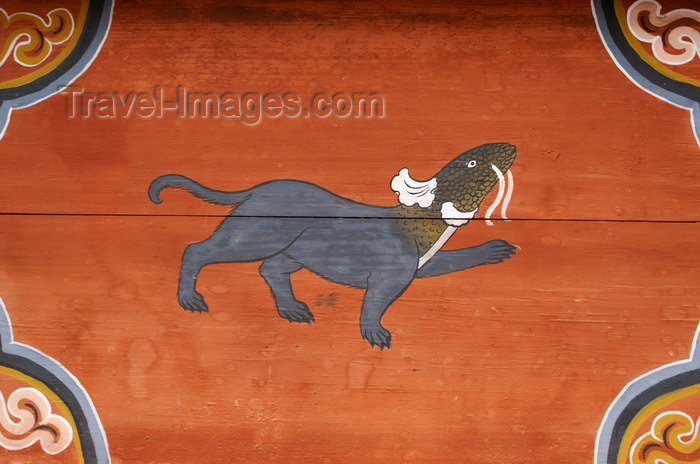 bhutan306: Bhutan - hybrid creature - painting at the Dewachen Hotel in Tabiting, Phobjikha valley - photo by A.Ferrari - (c) Travel-Images.com - Stock Photography agency - Image Bank