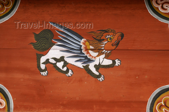 bhutan307: Bhutan - garuda - painting at the Dewachen Hotel in Tabiting, Phobjikha valley - photo by A.Ferrari - (c) Travel-Images.com - Stock Photography agency - Image Bank