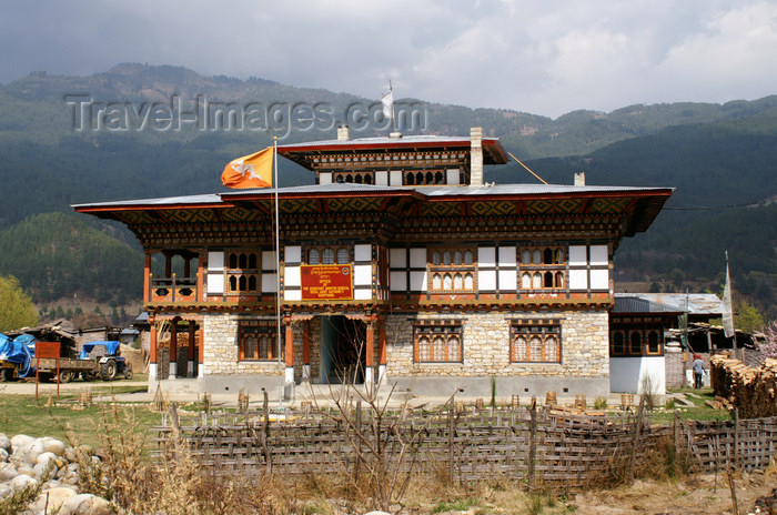 bhutan322: Bhutan - Jakar - Administrative building - photo by A.Ferrari - (c) Travel-Images.com - Stock Photography agency - Image Bank