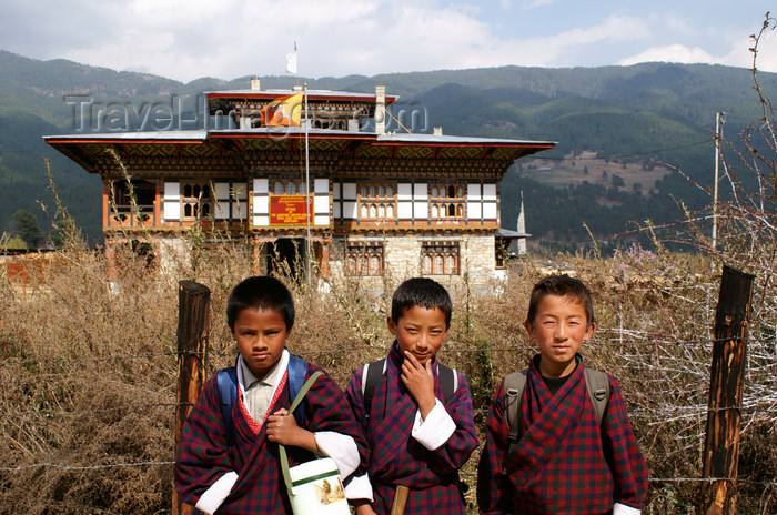bhutan323: Bhutan - Jakar - Children - photo by A.Ferrari - (c) Travel-Images.com - Stock Photography agency - Image Bank