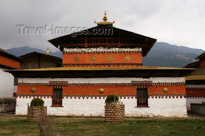 bhutan325: Bhutan - Jampa Lhakhang, Bumthang valley - central building - photo by A.Ferrari - (c) Travel-Images.com - Stock Photography agency - Image Bank