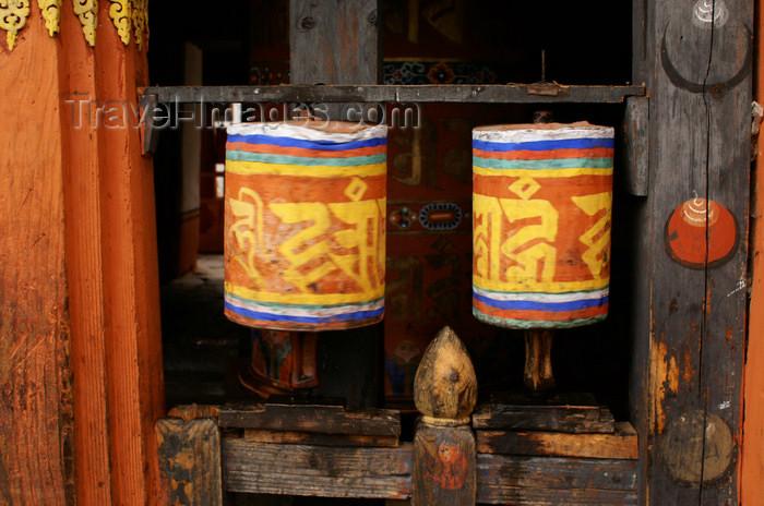bhutan327: Bhutan - Jampa Lhakhang - two prayer wheels - photo by A.Ferrari - (c) Travel-Images.com - Stock Photography agency - Image Bank