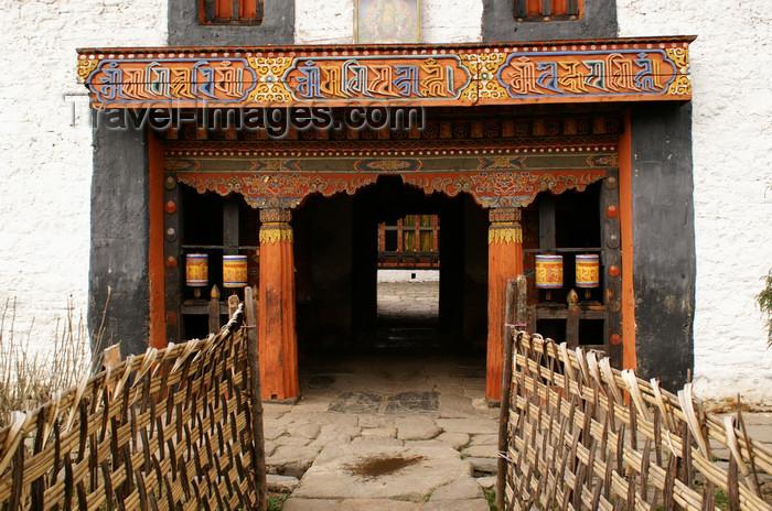bhutan331: Bhutan - Jampa Lhakhang - entrance - photo by A.Ferrari - (c) Travel-Images.com - Stock Photography agency - Image Bank