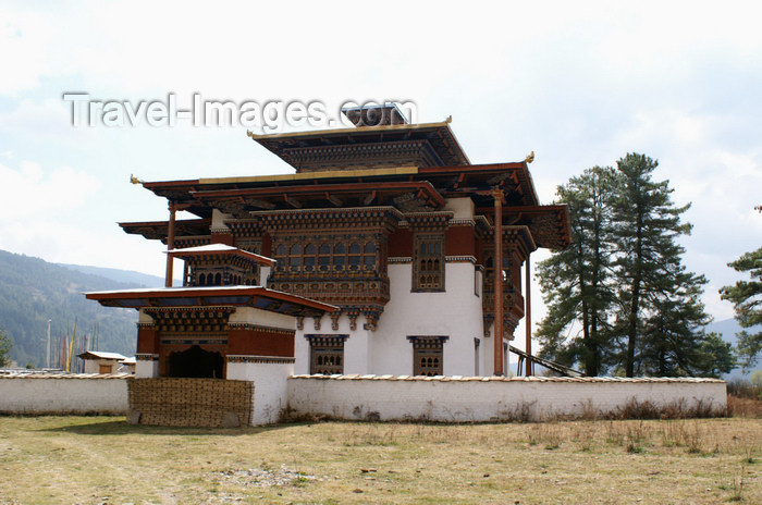 bhutan334: Bhutan - Zangto Pelri Lhakhang, Bumthang valley - a new temple - photo by A.Ferrari - (c) Travel-Images.com - Stock Photography agency - Image Bank