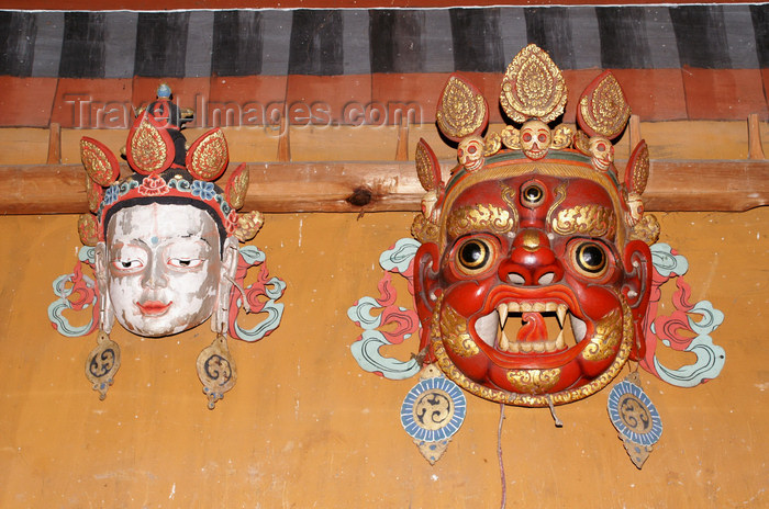 bhutan347: Bhutan - Bhutanese festival masks, in the Ugyen Chholing palace - photo by A.Ferrari - (c) Travel-Images.com - Stock Photography agency - Image Bank