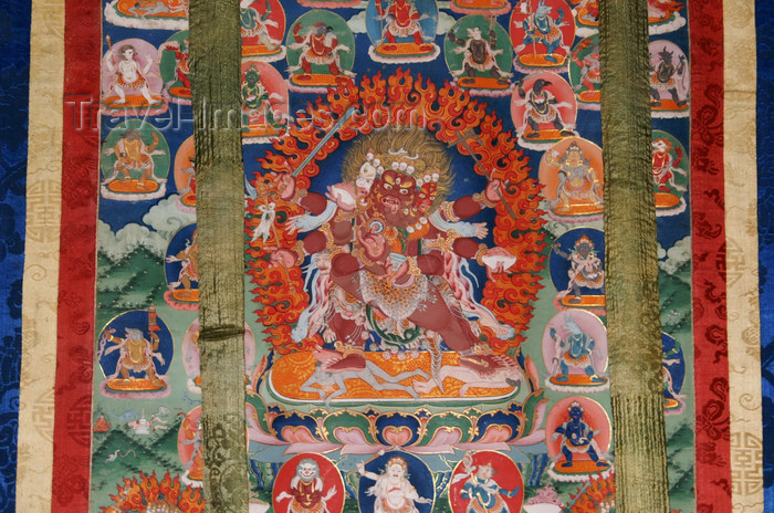 bhutan363: Bhutan - Ugyen Chholing village - painting on a piece of tissue, in the Ugyen Chholing palace, Bumthang district - photo by A.Ferrari - (c) Travel-Images.com - Stock Photography agency - Image Bank