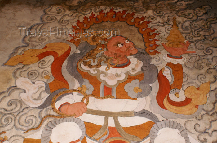 bhutan368: Bhutan - Shingkhar - Old painting of Chenmizang - photo by A.Ferrari - (c) Travel-Images.com - Stock Photography agency - Image Bank