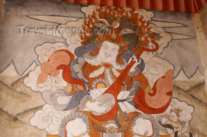 bhutan371: Bhutan - Shingkhar - Old painting of Yulkhorsung - photo by A.Ferrari - (c) Travel-Images.com - Stock Photography agency - Image Bank