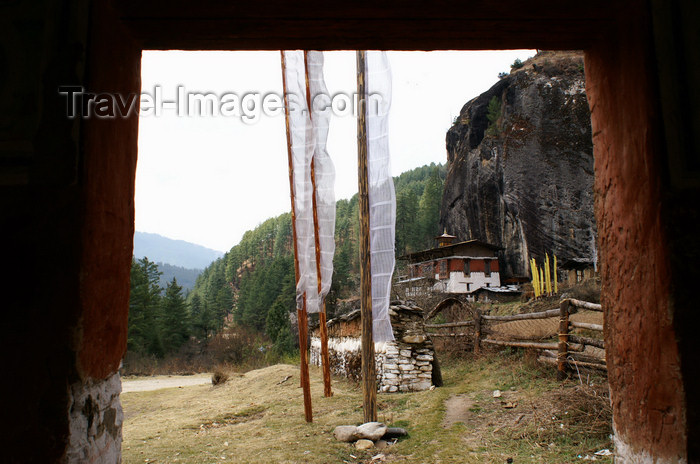 bhutan379: Bhutan - Tang Rimochen Lhakhang - prayer flags - photo by A.Ferrari - (c) Travel-Images.com - Stock Photography agency - Image Bank