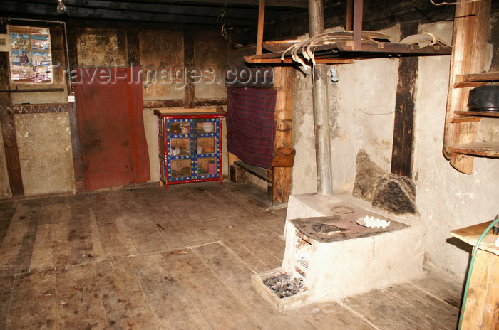 bhutan397: Bhutan - Ura village - inside a Bhutanese house - photo by A.Ferrari - (c) Travel-Images.com - Stock Photography agency - Image Bank