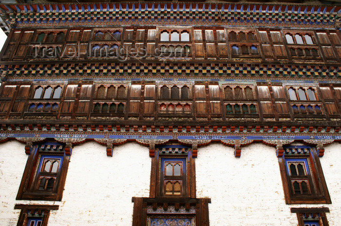bhutan399: Bhutan - Windows and plenty of wood carvings - Ugyen Chholing palace - photo by A.Ferrari - (c) Travel-Images.com - Stock Photography agency - Image Bank