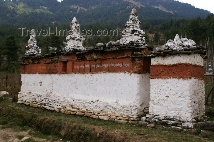 bhutan4: Bhutan - Bumthang valley - Mani wall near Tamshing Goemba - photo by A.Ferrari - (c) Travel-Images.com - Stock Photography agency - Image Bank
