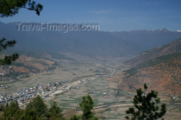 bhutan40: Bhutan - Paro: view over the Paro valley - photo by A.Ferrari - (c) Travel-Images.com - Stock Photography agency - Image Bank