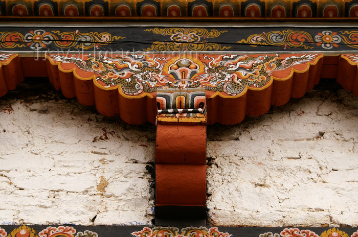 bhutan400: Bhutan - Wood carvings and paintings - Ugyen Chholing palace - photo by A.Ferrari - (c) Travel-Images.com - Stock Photography agency - Image Bank