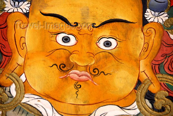 bhutan401: Bhutan, Paro, Mural detail Paro Dzong - chubby face - photo by J.Pemberton - (c) Travel-Images.com - Stock Photography agency - Image Bank