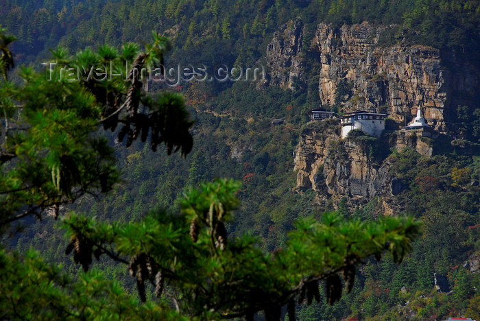 bhutan413: Bhutan, Paro, View of Dzong from the road to Cheli La pass - photo by J.Pemberton - (c) Travel-Images.com - Stock Photography agency - Image Bank