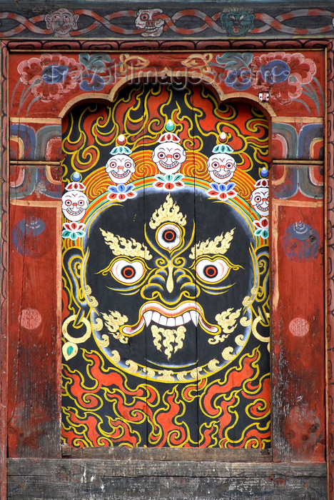 bhutan417: Bhutan, Thimphu, Detail Trashi Chhoe Dzong - photo by J.Pemberton - (c) Travel-Images.com - Stock Photography agency - Image Bank