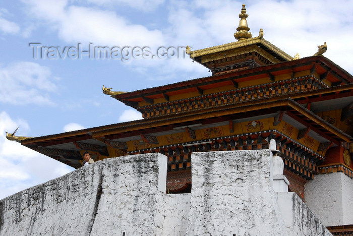 bhutan420: Bhutan, Thimphu, Trashi Chhoe Dzong - photo by J.Pemberton - (c) Travel-Images.com - Stock Photography agency - Image Bank