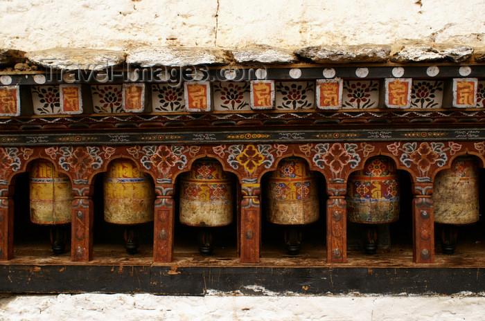 bhutan51: Bhutan - Old prayer wheels - Trongsa Dzong - photo by A.Ferrari - (c) Travel-Images.com - Stock Photography agency - Image Bank