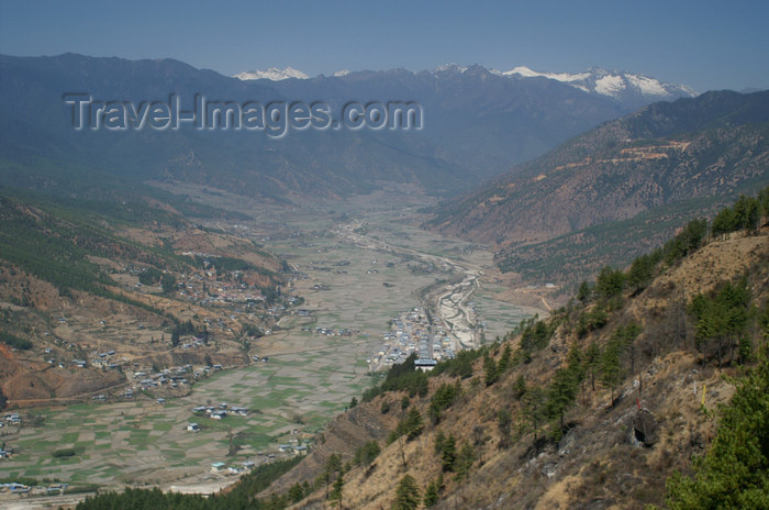 bhutan56: Bhutan - Paro valley, seen from the hills - photo by A.Ferrari - (c) Travel-Images.com - Stock Photography agency - Image Bank