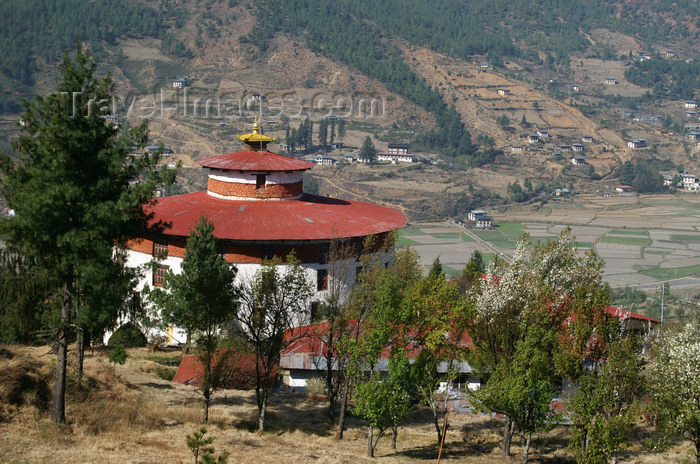 bhutan61: Bhutan - Paro: Bhutan's national museum - seen from the hill above - photo by A.Ferrari - (c) Travel-Images.com - Stock Photography agency - Image Bank