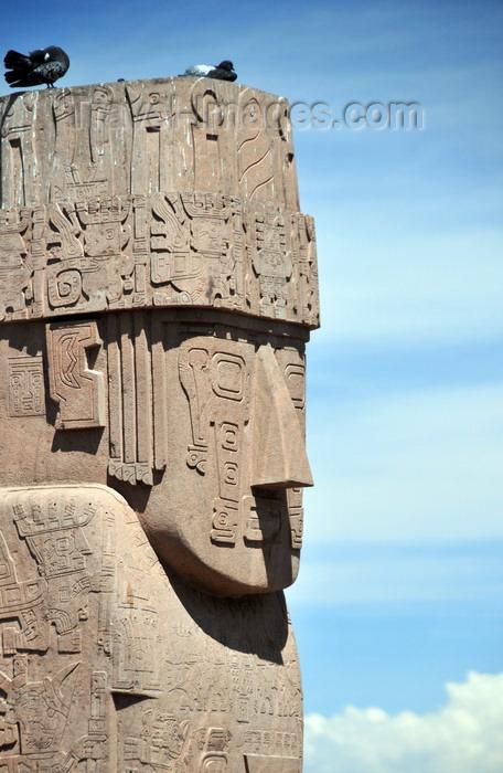 bolivia104: La Paz, Bolivia: Benett monolith - Megalito Benetto Pachamama - Templete Semisubteráneo - Tiwanaku Square - photo by M.Torres - (c) Travel-Images.com - Stock Photography agency - Image Bank