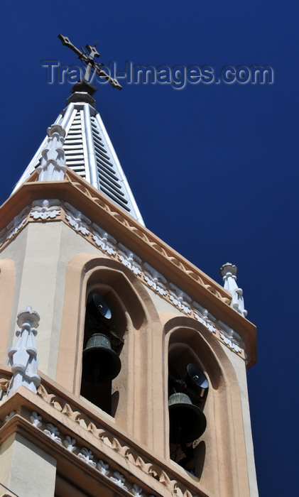 bolivia108: La Paz, Bolivia: church spire in Miraflores, Calle Guerrilleros Lanza corner Calle Panamá - Capilla de las Madres Concepcionistas - photo by M.Torres - (c) Travel-Images.com - Stock Photography agency - Image Bank