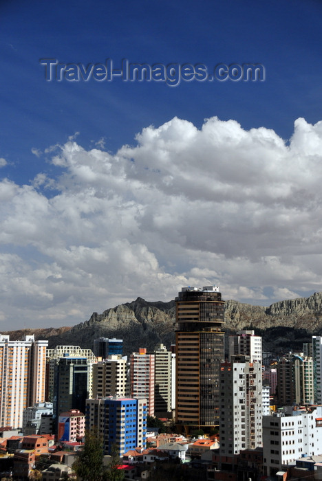 bolivia110: La Paz, Bolivia: tall buildings in the Sopocachi area - Americas tower - photo by M.Torres - (c) Travel-Images.com - Stock Photography agency - Image Bank