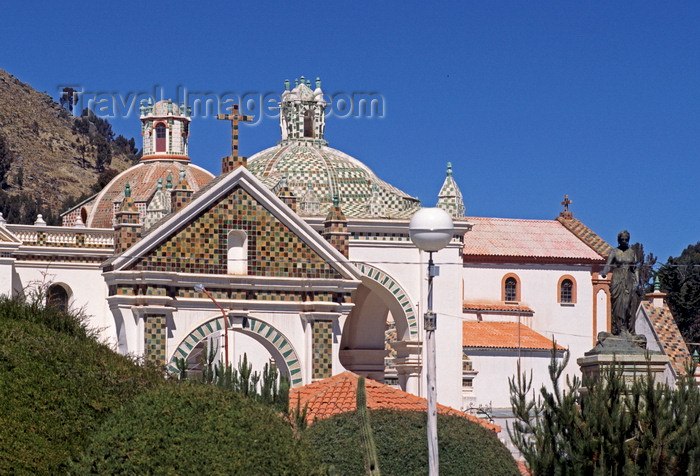bolivia154: Copacabana, Manco Kapac Province, La Paz Department, Bolivia: Basilica of Our Lady of Copacabana - Spanish colonial shrine - Mudéjar style - photo by C.Lovell - (c) Travel-Images.com - Stock Photography agency - Image Bank