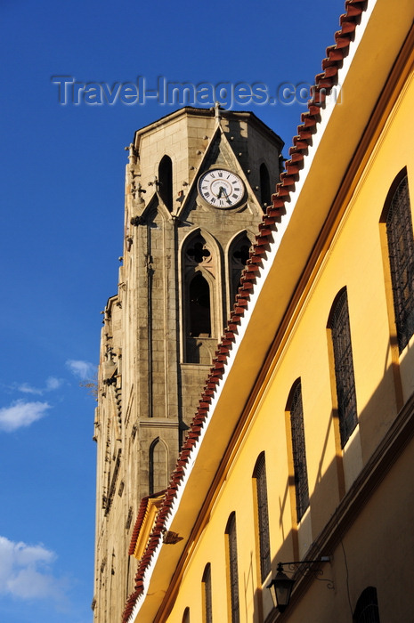 bolivia3: La Paz, Bolivia: neo-Gothic towers of San Calixto church - calle Pichincha - Templo Sagrado Corazón - photo by M.Torres - (c) Travel-Images.com - Stock Photography agency - Image Bank