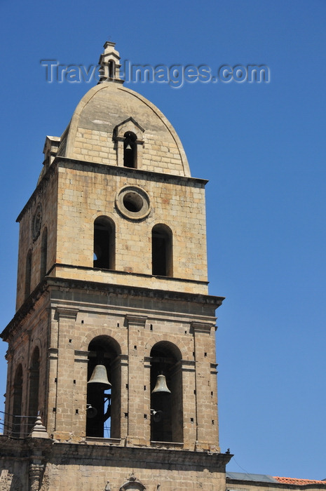 bolivia49: La Paz, Bolivia: San Francisco church - the tower was added in 1885 - prepared ashlars - photo by M.Torres - (c) Travel-Images.com - Stock Photography agency - Image Bank