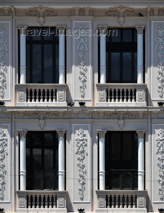 bolivia57: La Paz, Bolivia: Galeria La Republica - façade with stucco decoration - Plaza de San Francisco, Calle Sagárnaga - photo by M.Torres - (c) Travel-Images.com - Stock Photography agency - Image Bank