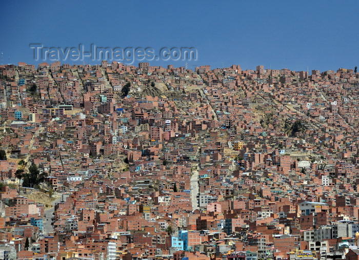bolivia63: El Alto, La Paz department, Bolivia: dense urban space with basic houses hosting thousands of migrants from the countryside - shantytown - photo by M.Torres - (c) Travel-Images.com - Stock Photography agency - Image Bank