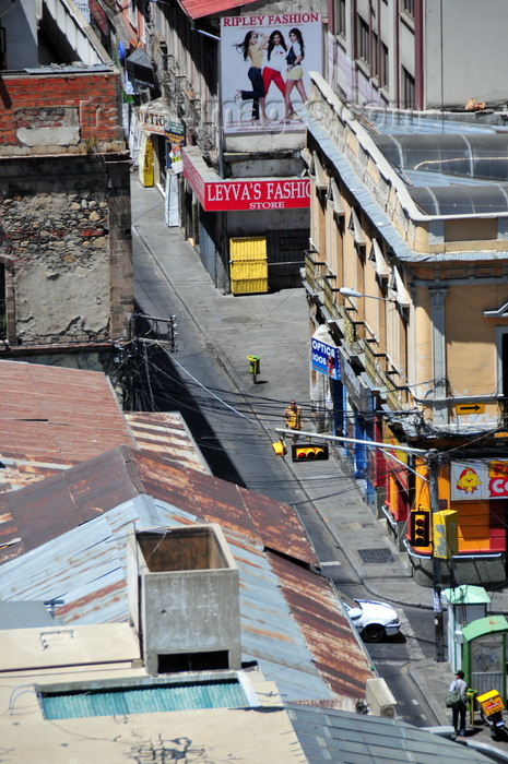 bolivia66: La Paz, Bolivia: Calle Potosí from above - photo by M.Torres - (c) Travel-Images.com - Stock Photography agency - Image Bank